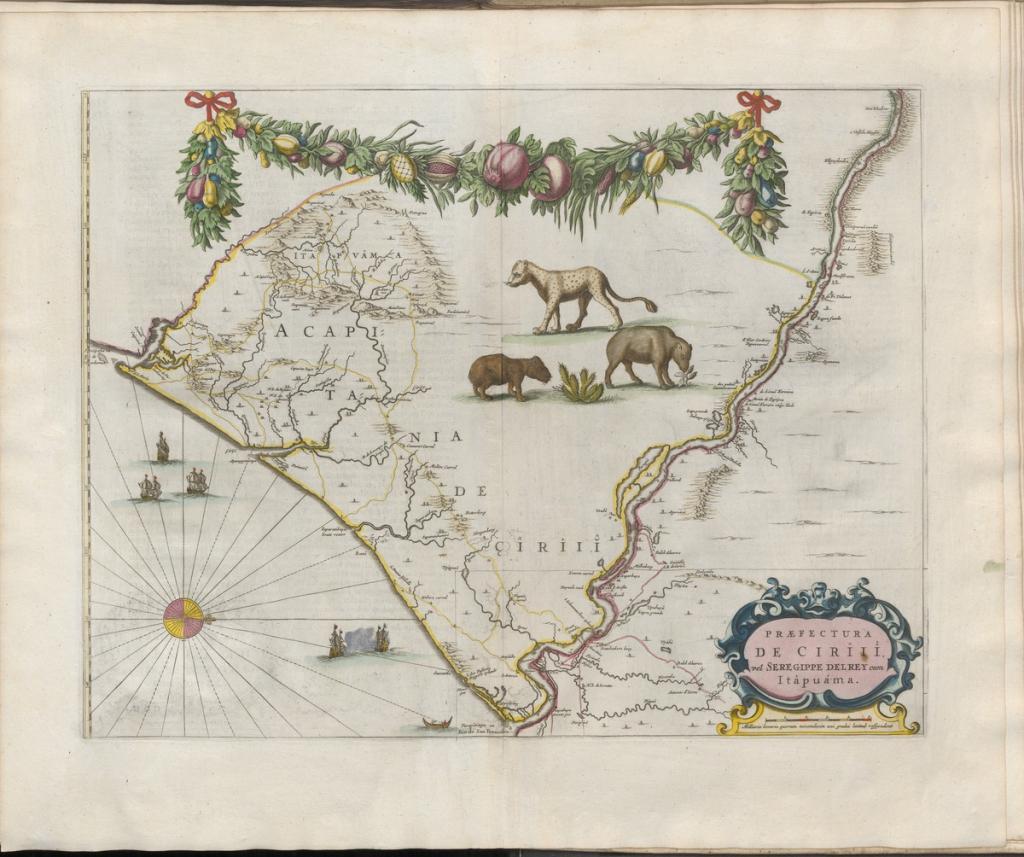 Grooten atlas, oft, Werelt-beschryving, in welcke 't aertryck, de zee, en hemel, wordt vertoont en beschreven deel 8, Sergipe de Rey