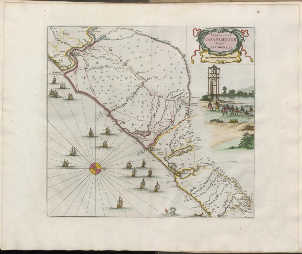 Grooten atlas, oft, Werelt-beschryving, in welcke 't aertryck, de zee, en hemel, wordt vertoont en beschreven deel 8,  Pernambuco Meridional