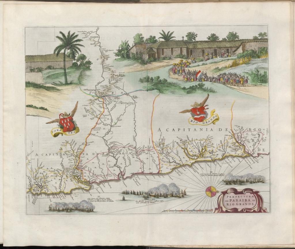 Grooten atlas, oft, Werelt-beschryving, in welcke 't aertryck, de zee, en hemel, wordt vertoont en beschreven deel 8, Paraiba y Rio Grande