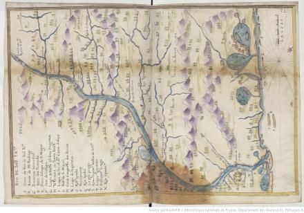"""Rio de [São] [Francisco], """"Livro em que se mostra / a descripçao de toda acosta do estado do Brasil e seus / portos, barras e sondas delas"""""""