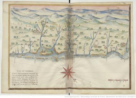 """Ilha de Tamaraca, """"Livro em que se mostra / a descripçao de toda acosta do estado do Brasil e seus / portos, barras e sondas delas"""""""