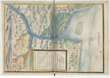 """Paraiba ou Barra de São Dominguos, """"Livro em que se mostra / a descripçao de toda acosta do estado do Brasil e seus / portos, barras e sondas delas"""""""