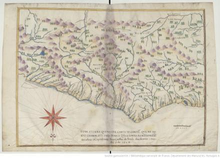 "Toda a terra que nesta carta se conten que he do Rio Grande ate o Rio Pereira..., ""Livro em que se mostra / a descripçao de toda acosta do estado do Brasil e seus / portos, barras e sondas delas"""
