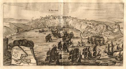 Verovering van San Salvador in Brazilië door admiraal Jacob Willekes, 1624